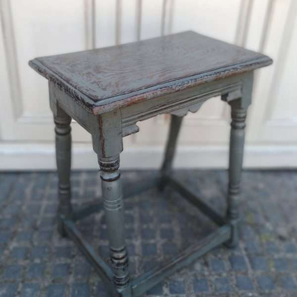 Early 19th Century Painted Oak Stool1