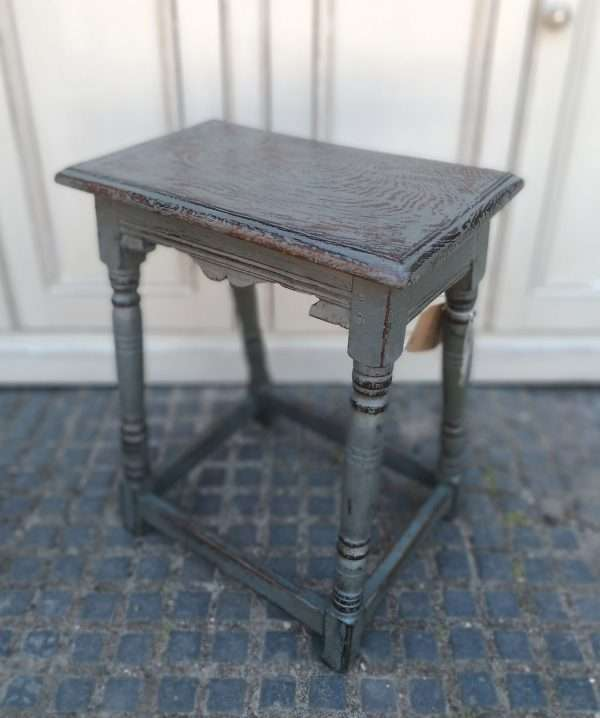 Early 19th Century Painted Oak Stool2