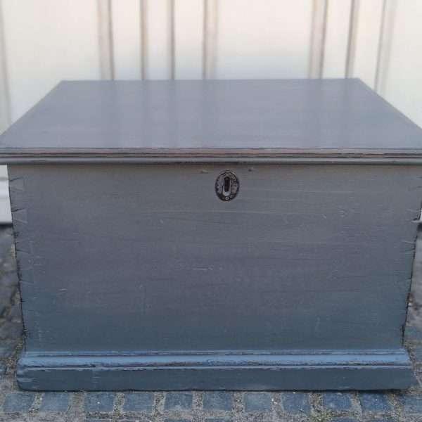 Early Victorian Painted Mahogany Box