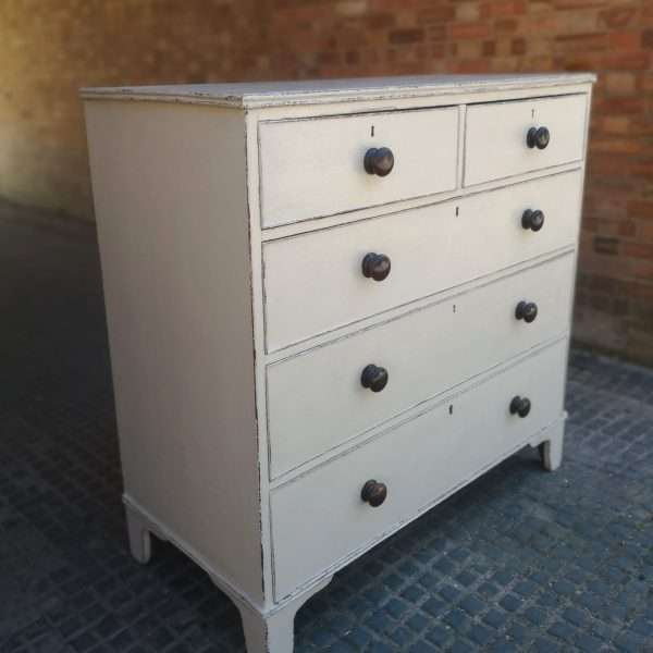 Georgian Painted Mahogany Chest Of Drawers1