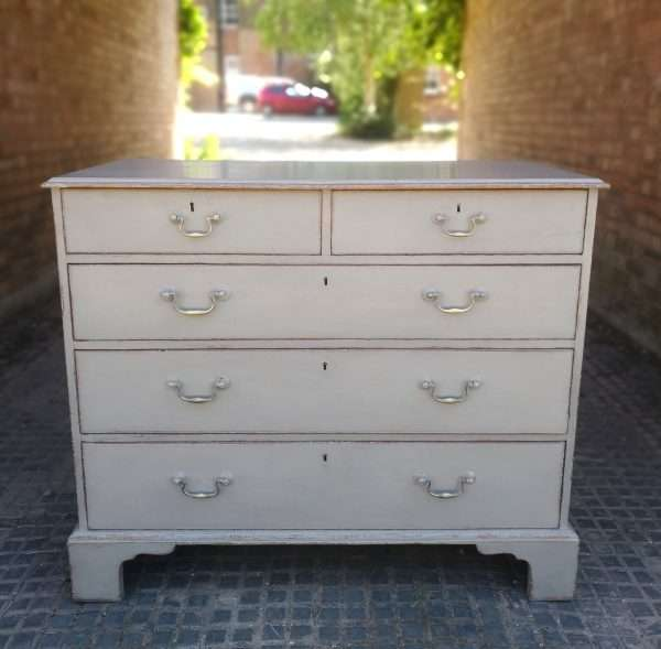Georgian Painted Mahogany 5 Drawer Chest