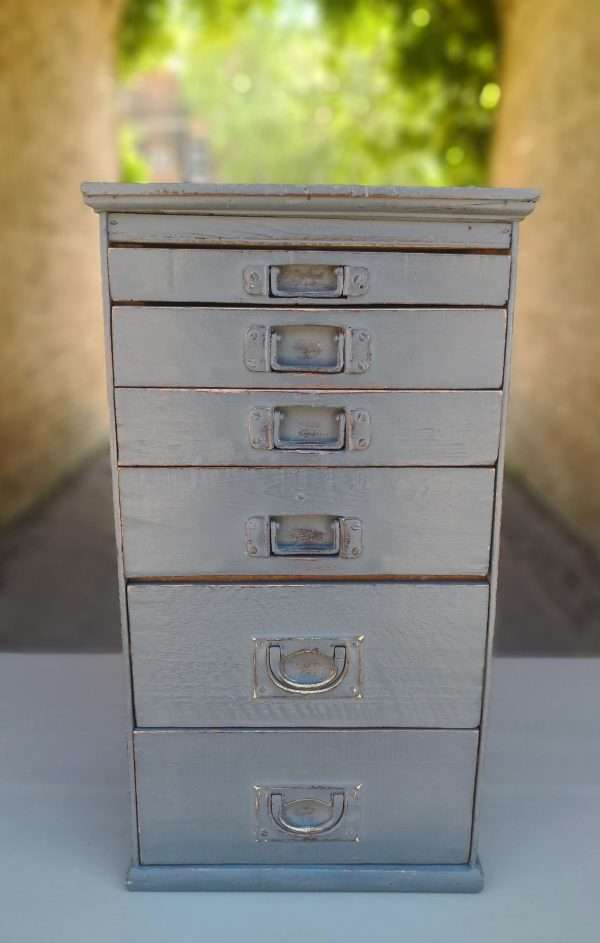 Victorian Small Bank Of 6 Drawers