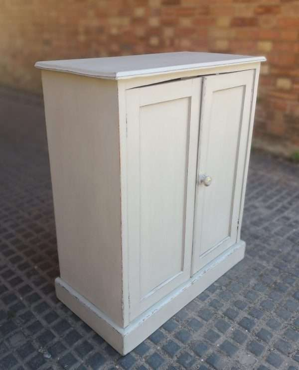 Early Victorian Painted Mahogany Cupboard1