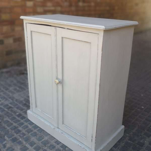 Early Victorian Painted Mahogany Cupboard2