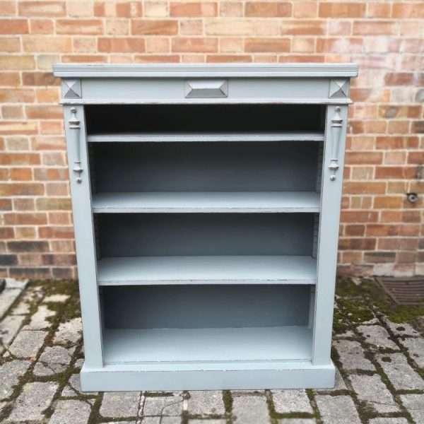 Edwardian Painted Mahogany Bookcase2