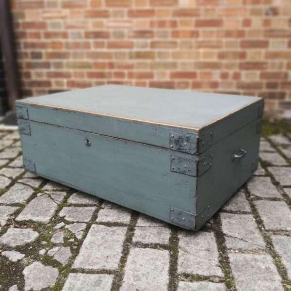 19th Century Painted Pine Storage Box 4