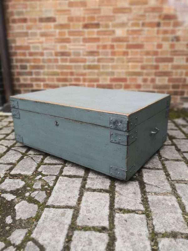 19th Century Painted Pine Storage Box 4