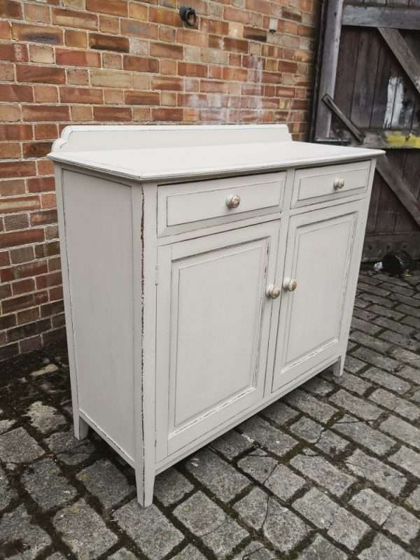Edwardian Painted Oak Cottage Dresser Base2