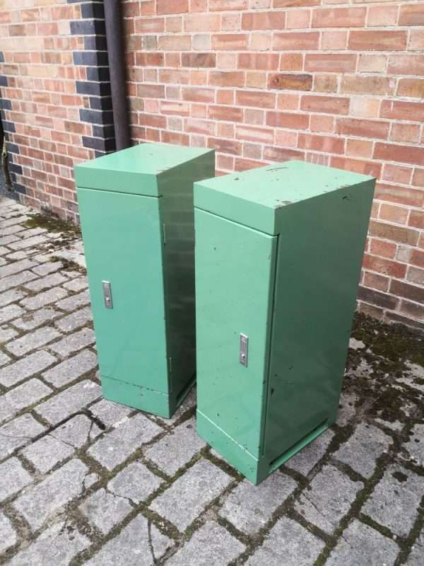 Pair Of Vintage Industrial Bedside Cabinets 3