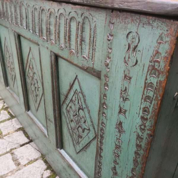 Late 17th Century Painted Oak Coffer3