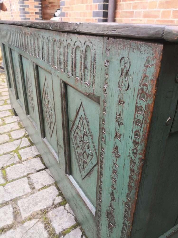 Late 17th Century Painted Oak Coffer6