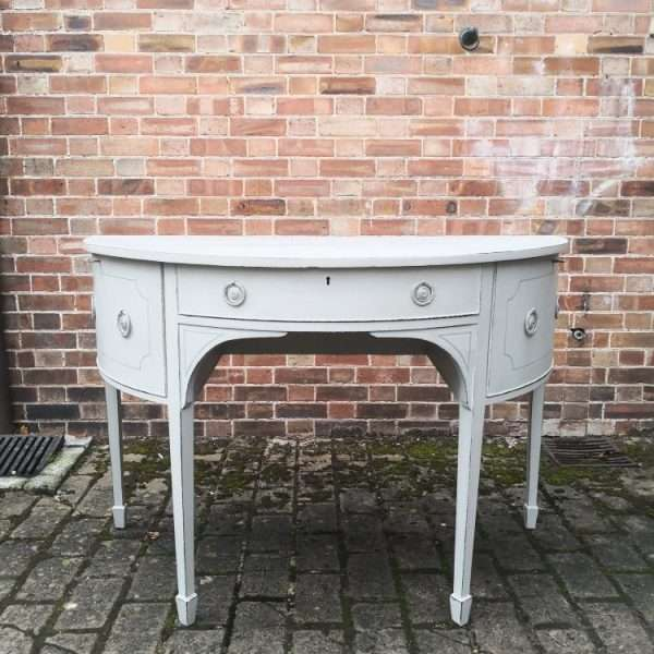 George III Half Round Painted Sideboard