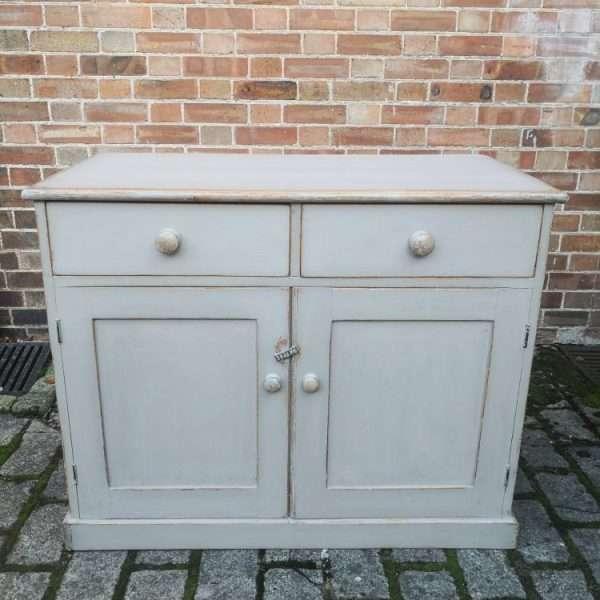 Mid 19th Century Painted Pine Dresser Base