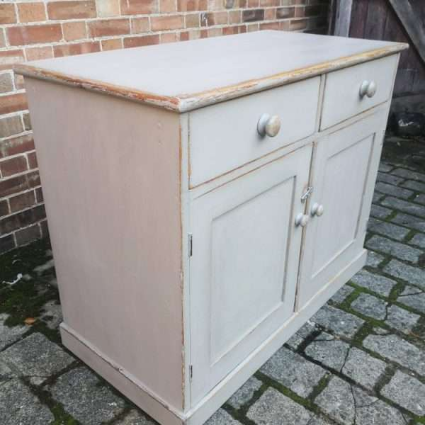Mid 19th Century Painted Pine Dresser Base1