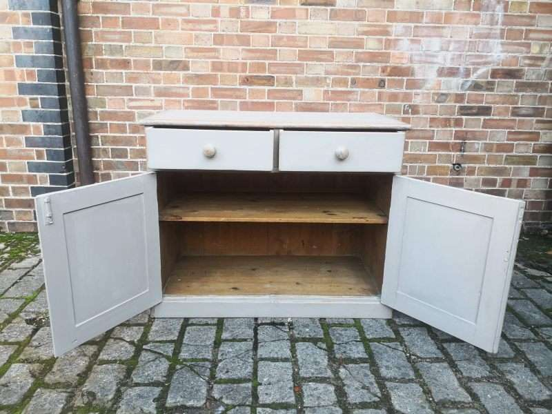Mid 19th Century Painted Pine Dresser Base2